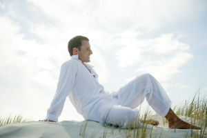 man-relaxed-on-beach